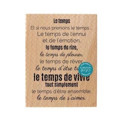 Florilèges Design - Estampes en bois  «Le temps de vivre» 1 pièces