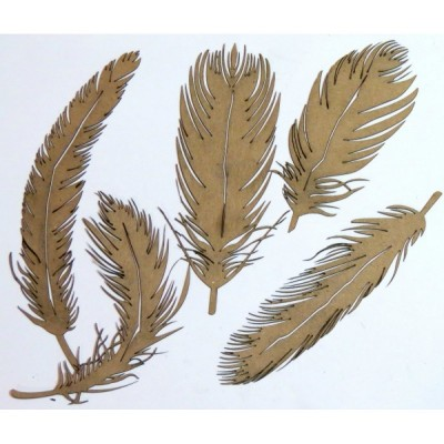 Creative Embellishments - Chipboard «Feathers 5»