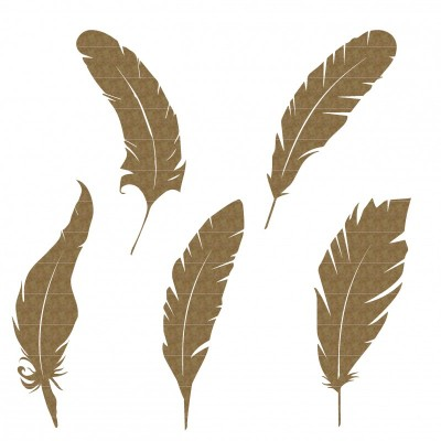 Creative Embellishments - Chipboard «Feathers»