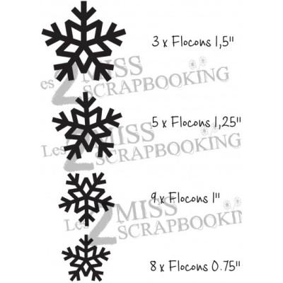 Les 2 Miss scrapbooking - Chipboard «Kit Flocons»