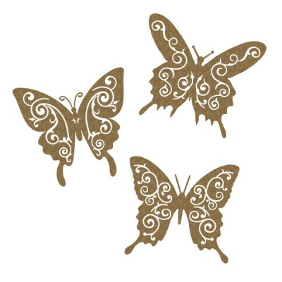 Creative Embellishments - Chipboard  «Flourish Butterflies»