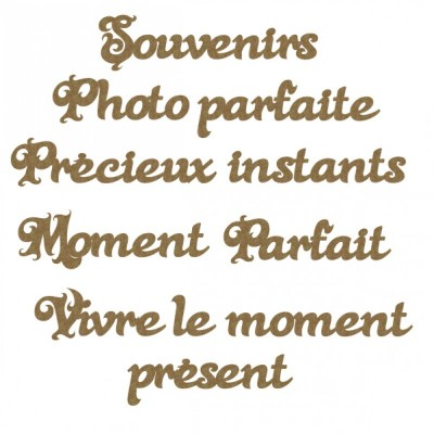 Creative Embellishments - «French moments word set» 11 pièces