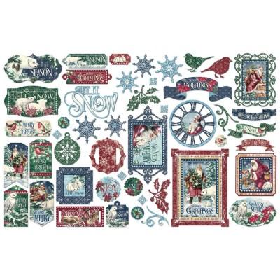PRÉCOMMANDE- Graphic 45 - «Let It Snow» paquet d'éphémeras  48 pièces