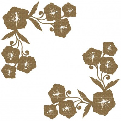 Creative Embellishments - Chipboard «Hibiscus corner set»