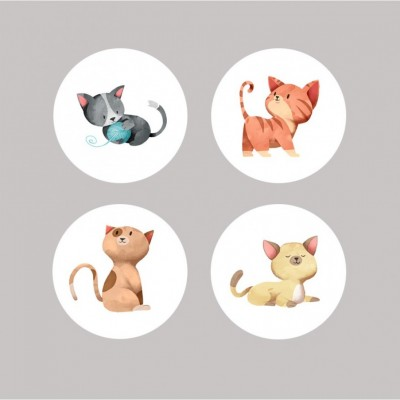 Scrap Fimo - Badges «Chats»