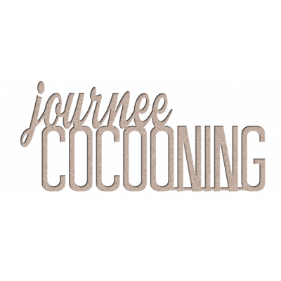 Les 2 Miss scrapbooking - Chipboard «Journée cocooning»