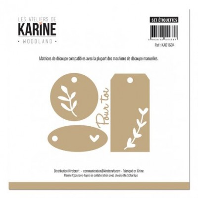 Les Ateliers de Karine - Outils De Découpe «Set étiquettes» 4 pièces