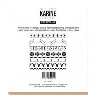 Les Ateliers de Karine - Stencil «P'tit Jacquard» 15 cm X 15 cm