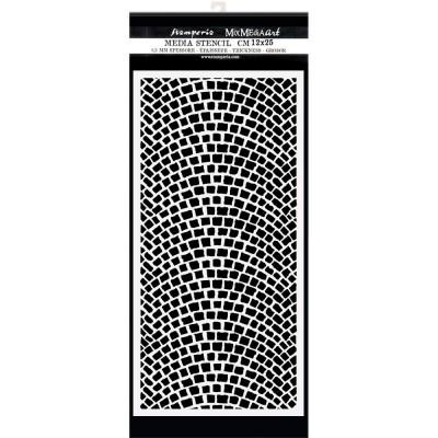 "PRÉCOMMANDE- Stamperia - Stencil «Lady Vagabond Lifestyle/Cobblestone» 4.72"" X 9.84"""