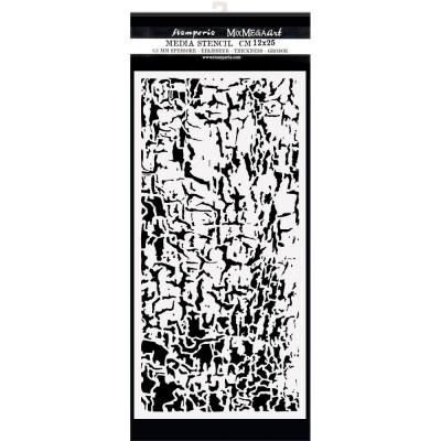 "PRÉCOMMANDE- Stamperia - Stencil «Lady Vagabond Lifestyle/Cracks» 4.72"" X 9.84"""