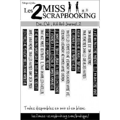 Les 2 Miss scrapbooking - Éphéméra «Kit Art journal 2»