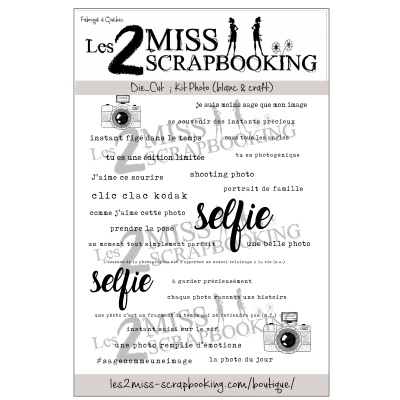 "Les 2 Miss scrapbooking - Éphéméra ""Kit Photo"""