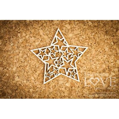 Laserowe - Chipboard «Étoile avec étoiles» LA16081211