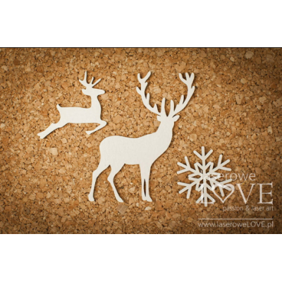Laserowe - Chipboard «Renne - Plaisirs d'hiver» LA171437