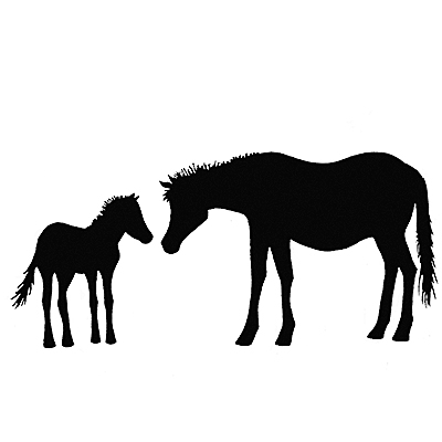 Lavinia - Estampe «Horse and Foal»