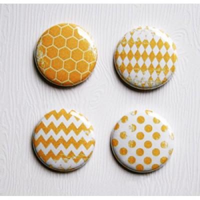 Lime Citron - badge 087 «Basique Jaune»