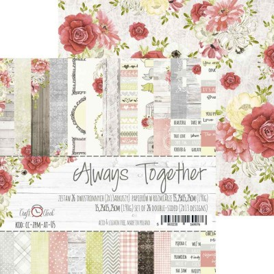 "Lemoncraft - ""Always Together"" ensemble de papier  26 feuilles 6"" X 6"""