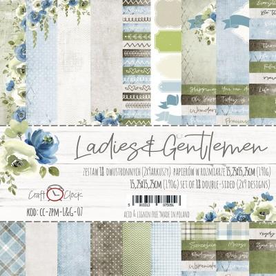 """Lemoncraft - """"Ladies & Gentlemen"""" ensemble de papier  18  feuilles 6"""" X 6"""""""