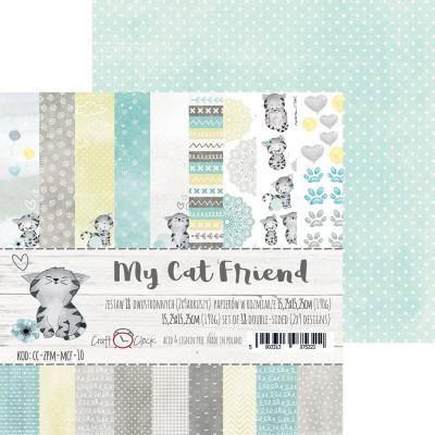 """Lemoncraft - """"My Cat Friend"""" ensemble de papier  18  feuilles 6"""" X 6"""""""