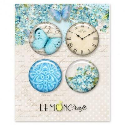 """Lemoncraft - Badges """"Forget me not"""""""
