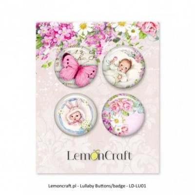"Lemoncraft - Badges ""Lullaby  Rose"""