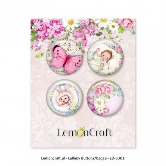"Lemoncraft - Badges ""Lullaby  Rose"""