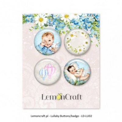 "Lemoncraft - Badges ""Lullaby bleu """
