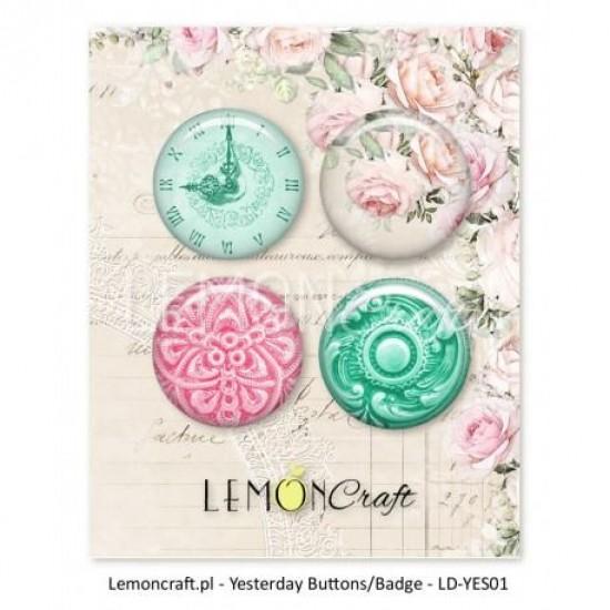 "Lemoncraft - Badges ""Yesterday"""