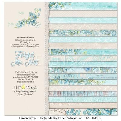 """Lemoncraft - """"Forget me not"""" ensemble de papier  36 feuilles 6"""" X 6"""""""