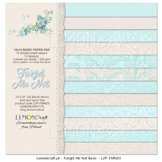 """Lemoncraft - """"Forget me not"""" ensemble de papier  12 feuilles 12"""" X 12"""""""