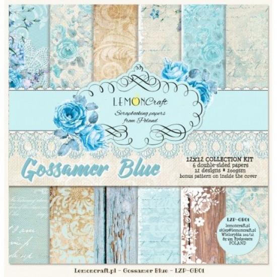 "Lemoncraft - ""Gossamer Blue"" ensemble de papier  6 feuilles 12"" X 12"""