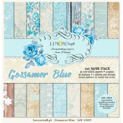"Lemoncraft - ""Gossamer Blue"" ensemble de papier  36 feuilles 6"" X 6"""