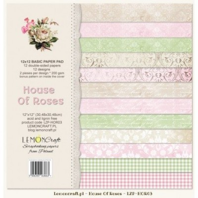 "Lemoncraft - ""House of roses"" ensemble de papier  12 feuilles 12"" X 12"""
