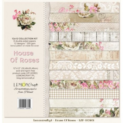 "Lemoncraft - ""House of roses"" ensemble de papier  6 feuilles 12"" X 12"""