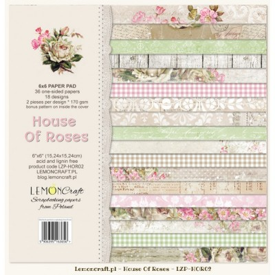 "Lemoncraft - ""House of roses"" ensemble de papier  36 feuilles 6"" X 6"""