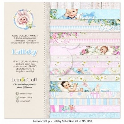 """Lemoncraft - """"Lullaby"""" ensemble de papier  8 feuilles 12"""" X 12"""""""