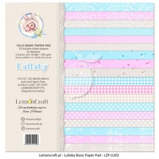 """Lemoncraft - """"Lullaby"""" ensemble de papier  12 feuilles 12"""" X 12"""""""