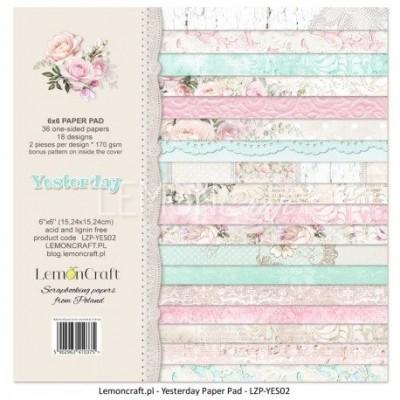 "Lemoncraft - ""Yesterday"" ensemble de papier  36 feuilles 6"" X 6"""