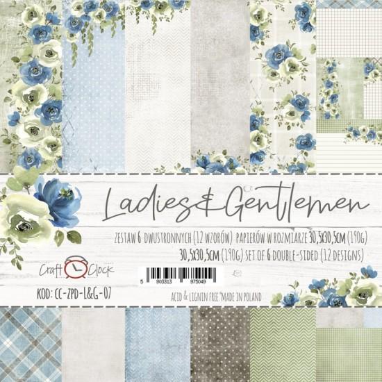 """Lemoncraft - """"Ladies and Gentlemen"""" ensemble de papier  6 feuilles 12"""" X 12"""""""