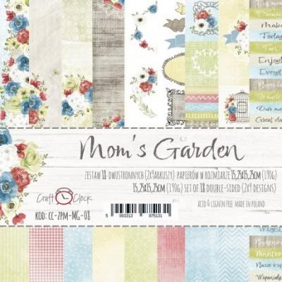 """Lemoncraft - """"Mom's Garden"""" ensemble de papier  18  feuilles 6"""" X 6"""""""