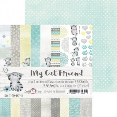 "Lemoncraft - ""My cat Friend"" ensemble de papier  18  feuilles 6"" X 6"""