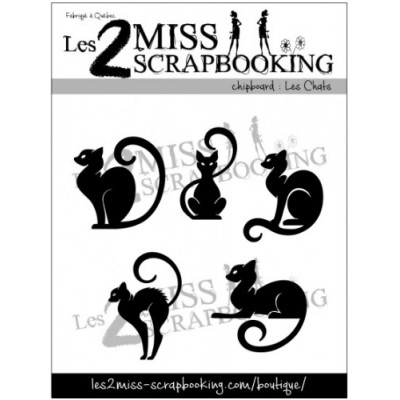 Les 2 Miss scrapbooking - Chipboard kit «Les chats»