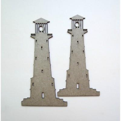 LIQUIDATION- Creative Embellishments - Chipboard «Lightouse» 2pièces  (Le prix ci-dessous est déjà réduit de 50%)