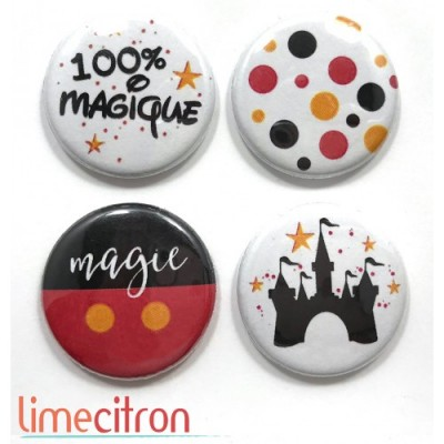 "Lime Citron badge ""Magie"""