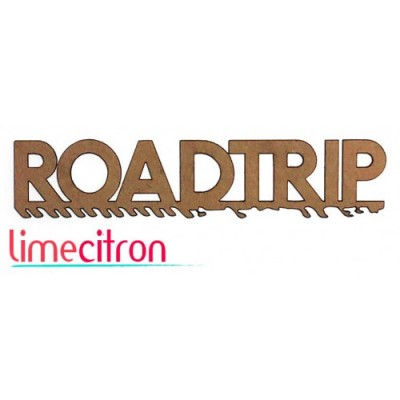 "Lime Citron - Chipboard ""Roadtrip"""