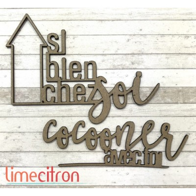 "Lime Citron - Chipboard ""Si bien chez soi"""