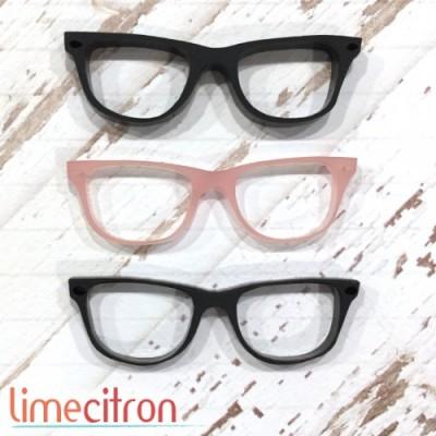 Lime Citron - Acrylique «Lunette» noires et rose