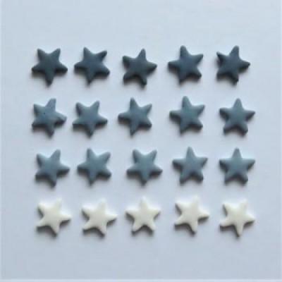 Scrap Fimo - Mini-étoiles grises - MEG