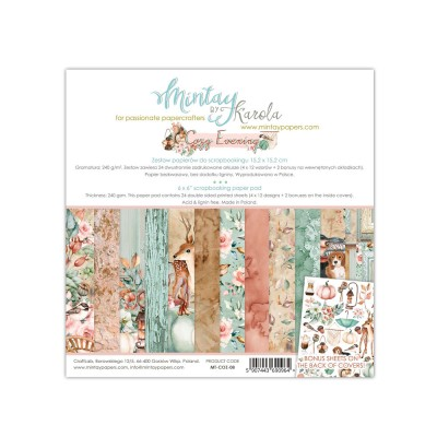 "Mintay - Papier 6"" X 6""  collection «Cozy evening» 24 pages recto-verso"