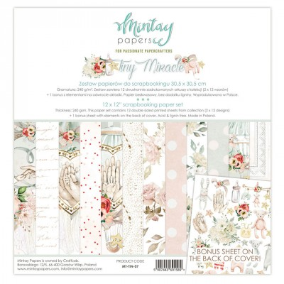"Mintay - Papier 12"" X 12""  collection «Tiny Miracle» 12 pages recto-verso"